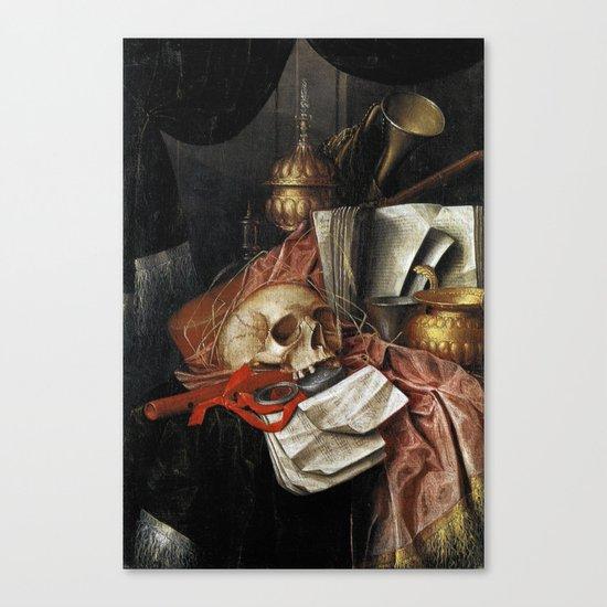Vintage Vanitas - Still Life with skull 2 Canvas Print