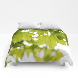 The Green Leaves of Summer Comforters