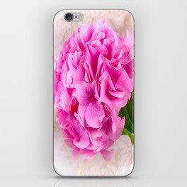 Vintage Pink Hydrangea iPhone Skin