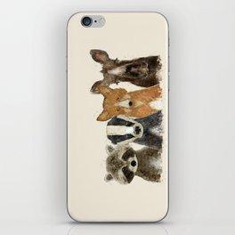 forest friends iPhone Skin