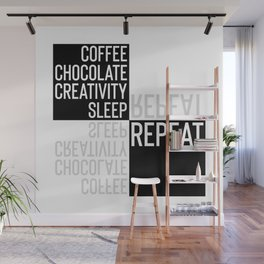 Typographic Design CREATIVE LIFESTYLE Wall Mural
