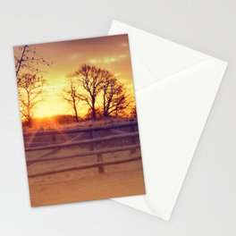 February winter morning Stationery Cards