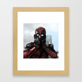 Time to chimichangas ! Framed Art Print