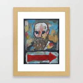 That Way, Oil On Canvas Framed Art Print