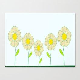 Five Daisies Canvas Print