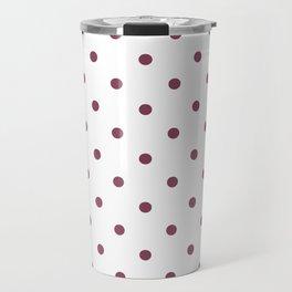 Polka Dots Pattern: Mulberry Travel Mug