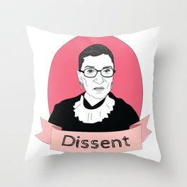 RBG Dissent Throw Pillow