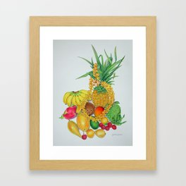 Tropical Fruit with Lei Framed Art Print