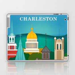 Charleston, West Virginia - Skyline Illustration by Loose Petals Laptop & iPad Skin