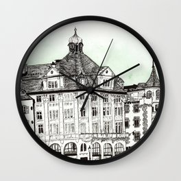 Architecture in Lucerne Wall Clock