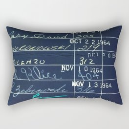 Library Card 23322 Negative Rectangular Pillow