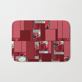 Mixed color Poinsettias 3 Art Rectangles 8 Bath Mat