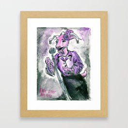 Billie Goat Holiday  Framed Art Print