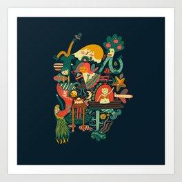 Crazy dream Art Print