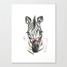 Zoey the Zebra Canvas Print