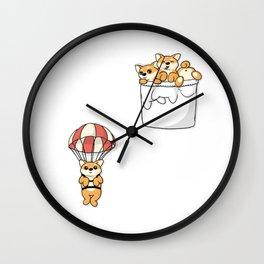 Cute Pocket Shiba Inus Wall Clock