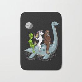 Alien Unicorn Bigfoot Riding Loch Ness Monster Conspiracy Bath Mat
