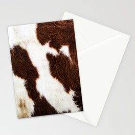 Cowhide Brown Spots Stationery Cards