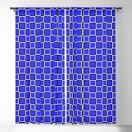 Blue geometric pattern. Squares. Tile design Blackout Curtain