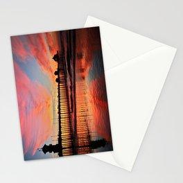 Sunset ~ Huntington Beach Pier ~ Huntington Beach Pier CA   Stationery Cards