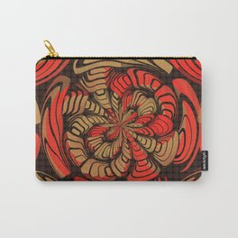 Decorative red and brown Carry-All Pouch