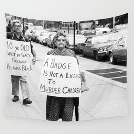 A Badge Is Not A License To Murder Children Wall Tapestry