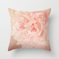 blush Throw Pillows featuring BLUSH by Jenny Ardell