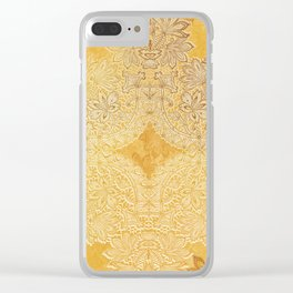 lace weave bright and sunny Clear iPhone Case
