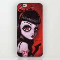 tina crespo iPhone & iPod Skins featuring 7-Tina by Dienzo Art
