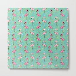 Flamingo Bay Metal Print