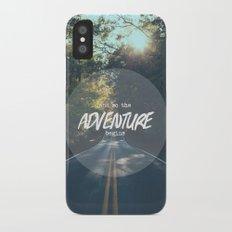 The Adventure Begins Slim Case iPhone X