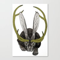 jackalope Canvas Prints featuring Jackalope by Justin McElroy