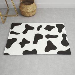 Cow skin black white design Rug