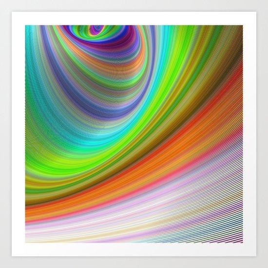 Color illusion Art Print