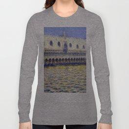 1908-Claude Monet-The Doges Palace (Le Palais ducal)-81 x 99 Long Sleeve T-shirt