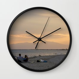 Sunset Over Mt. Olympus Wall Clock