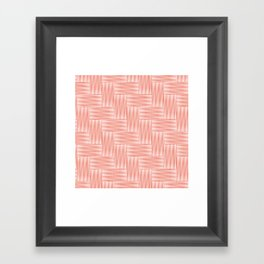 Herringbone .carrot Framed Art Print