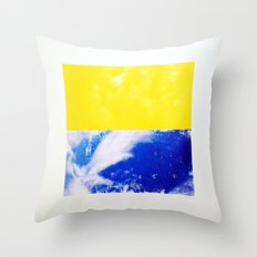 SKY/YLO Throw Pillow