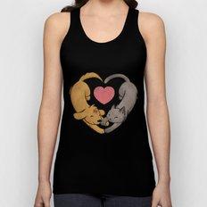 Cat Love Dog Unisex Tank Top