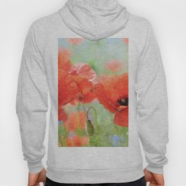 poppies in the meadow 170 Hoody
