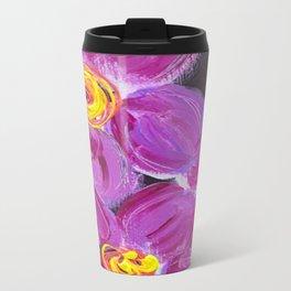 Purple Floral Travel Mug