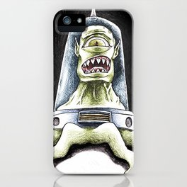 Kang from the Simpsons by Aaron Bir iPhone Case