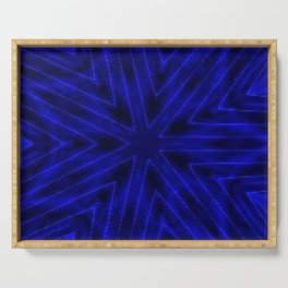 Deep Blue Paper Snowflakes Serving Tray