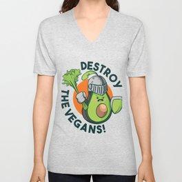Destroy The Vegans Unisex V-Neck