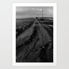 Where this road leads, nobody knows. Art Print