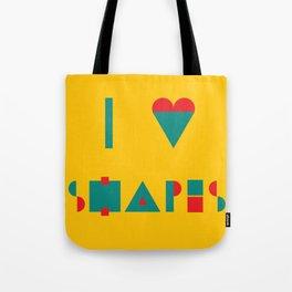 I heart Shapes Tote Bag