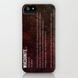 Whedonite iPhone Case