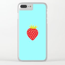 Strawberry No. 1 Clear iPhone Case