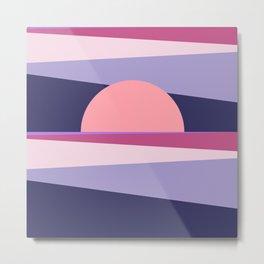 Abstract Sunset 2 Metal Print