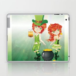 Leprechaun Boy and Girl Laptop & iPad Skin